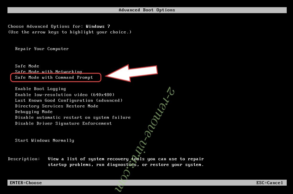 Remove .MaMo434376 file virus - boot options