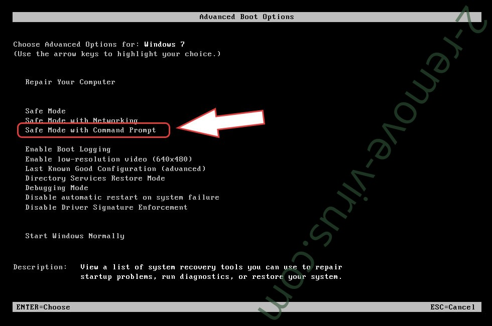 Remove Santa ransomware - boot options