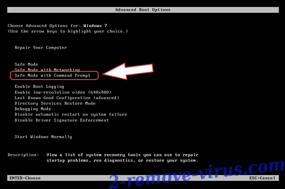 Remove Booa Ransomware - boot options