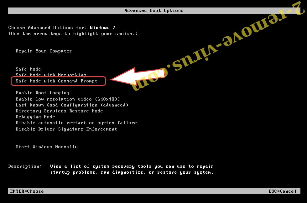 Remove .BlackMamba file virus - boot options