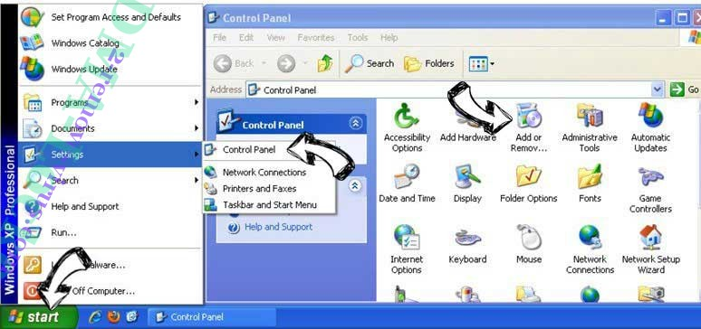 Remove Nformallsel.top pop-up ads from Windows XP
