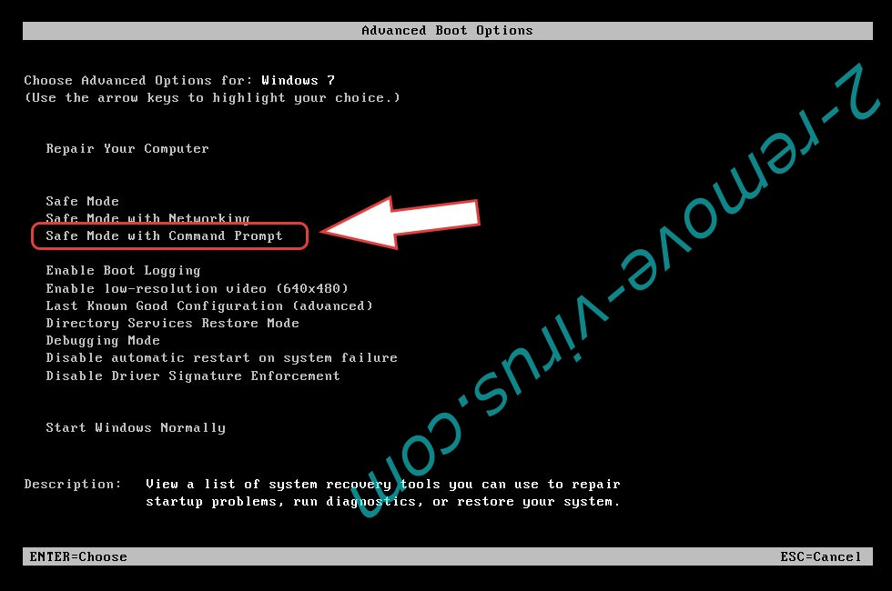 Remove LockfilesKR ransomware - boot options