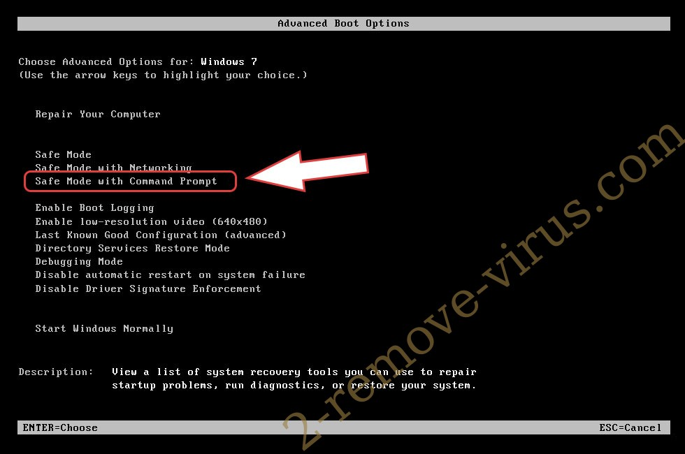 Remove Trojan:Win32/CryptInject!ml - boot options