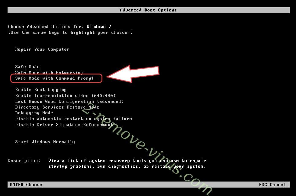 Remove Sandboxtest ransomware - boot options