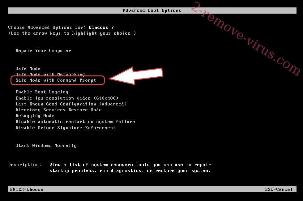 Remove DeltaSEC ransomware - boot options