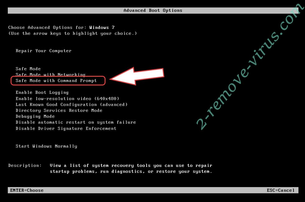 Remove C0der_HACK ransomware - boot options