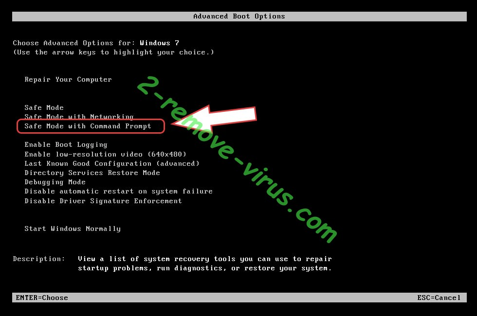 Remove .VIPxxx file virus - boot options