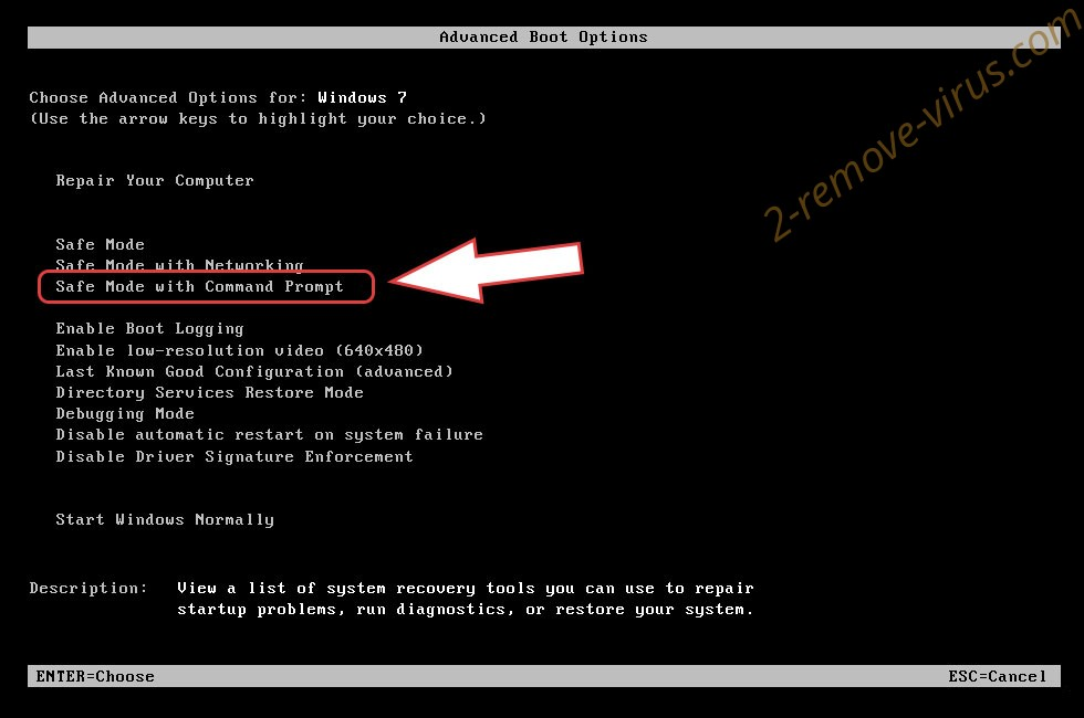 Remove POLSAT Ransomware - boot options