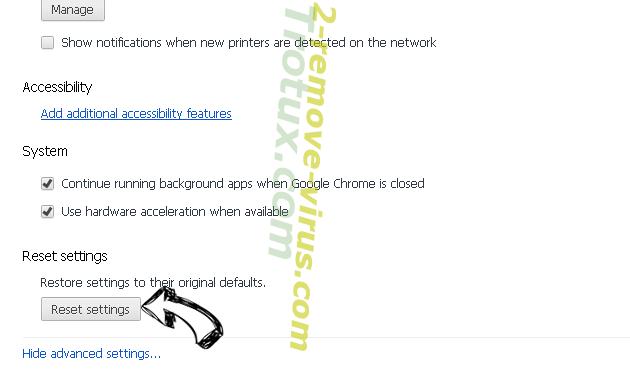 Leddolettitor.info Chrome advanced menu