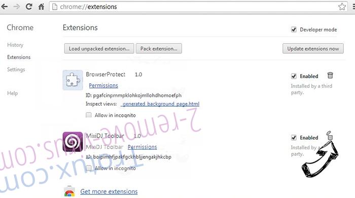 Leddolettitor.info Chrome extensions remove