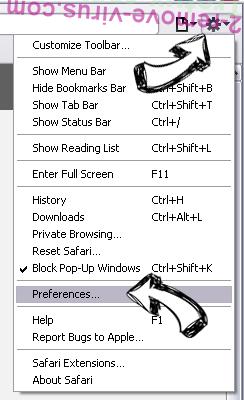 Leddolettitor.info Safari menu