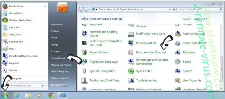 Uninstall Streaming plus from Windows 7