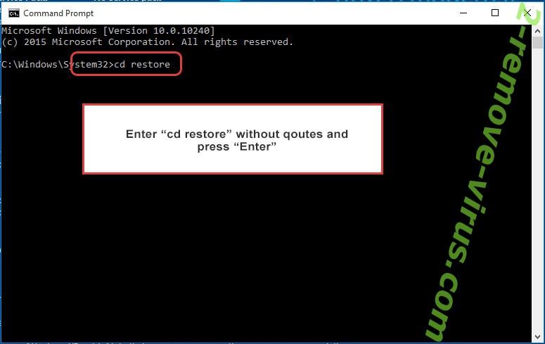 Uninstall Sspq virus - command prompt restore