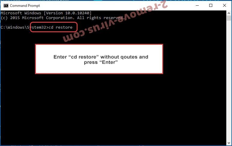 Uninstall Piiq Virus - command prompt restore