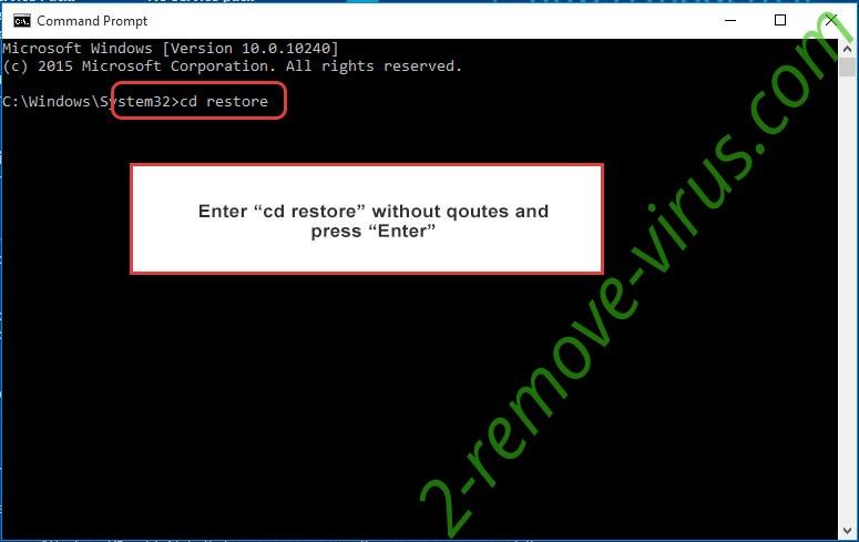 Uninstall .Lorenz.sz40 Files Ransomware - command prompt restore