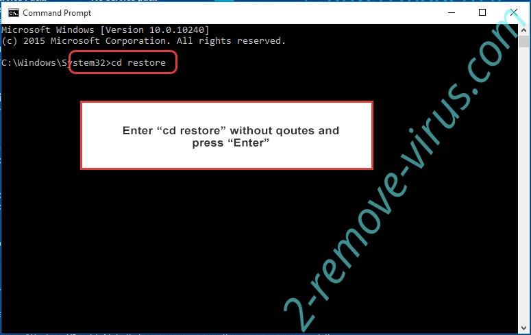 Uninstall Gujd virus - command prompt restore