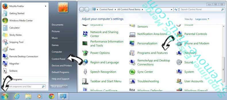Uninstall Betonethathadfa.pro Pop-ups from Windows 7