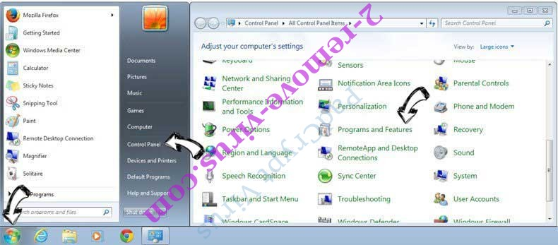Uninstall Arcicalonetal.pro from Windows 7