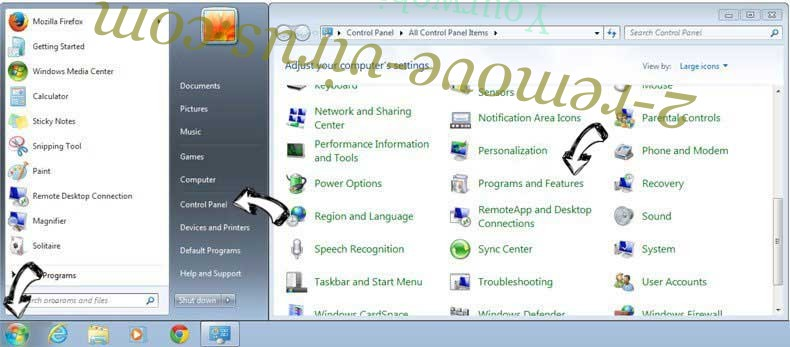 Uninstall Softfamous.com from Windows 7