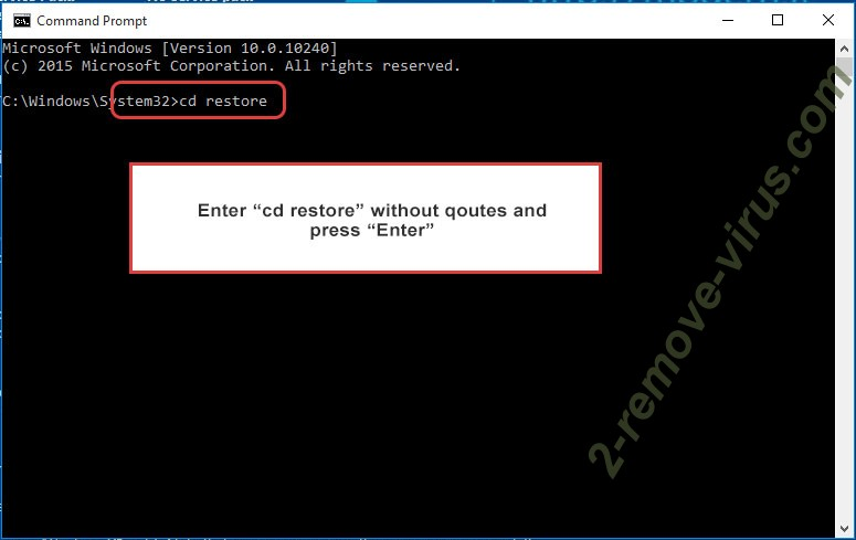 Uninstall GERO extension virus - command prompt restore