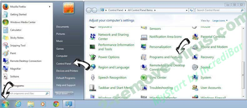 Uninstall Cturemini.pro from Windows 7