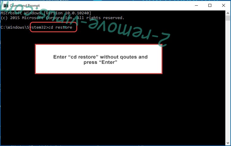 Uninstall Kcry Ransomware - command prompt restore