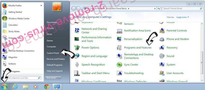 Uninstall MyConverterSearch from Windows 7
