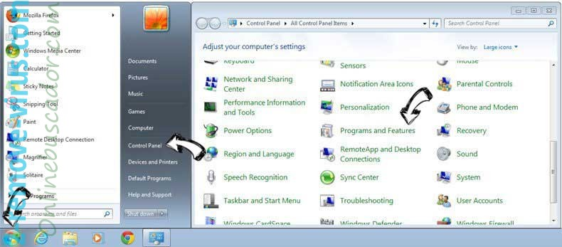 Uninstall PDFConverterSearch4Free from Windows 7