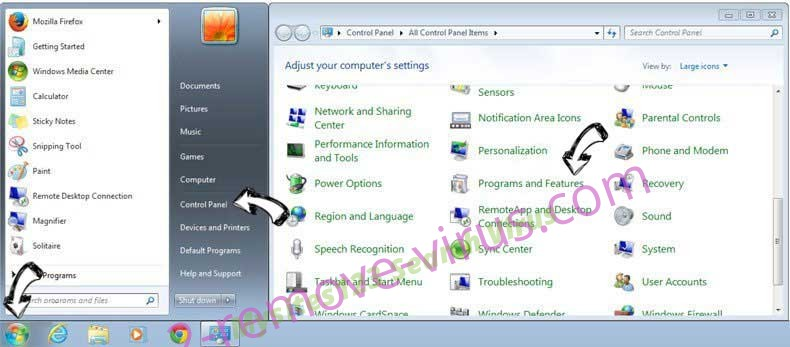 Uninstall ContentCleaner from Windows 7