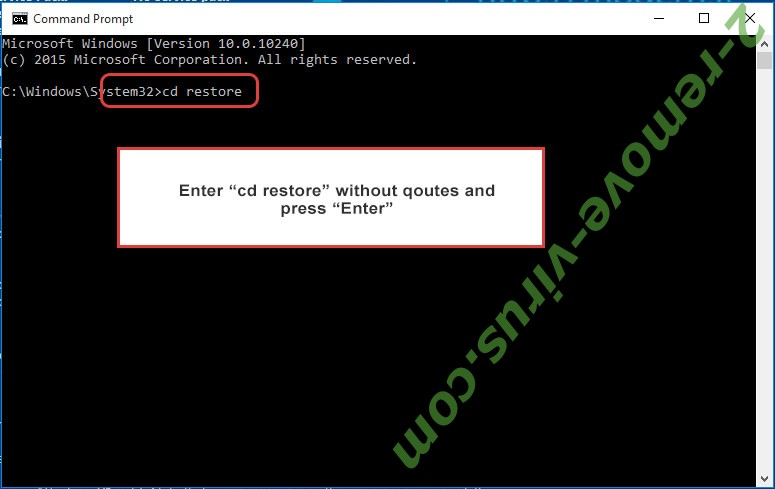 Uninstall .Ncov file virus - command prompt restore