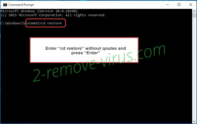Uninstall .Promorad2 file virus - command prompt restore