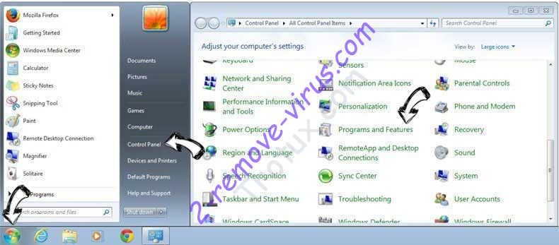 Uninstall Leddolettitor.info from Windows 7