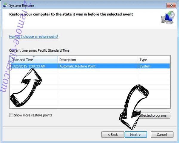 Ehiz Files Locker - restore point