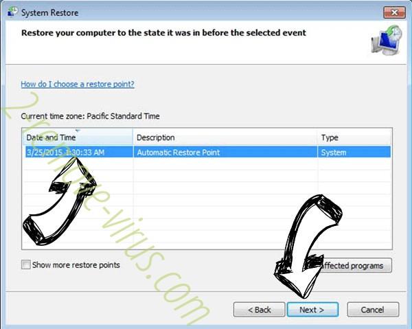 .Dragon file virus - restore point