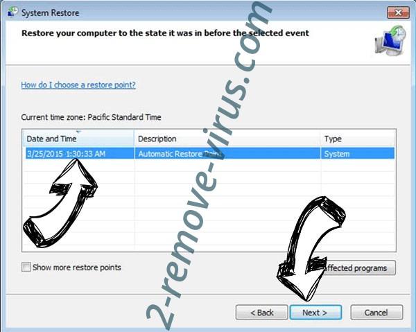 .MMTA Files Ransomware - restore point