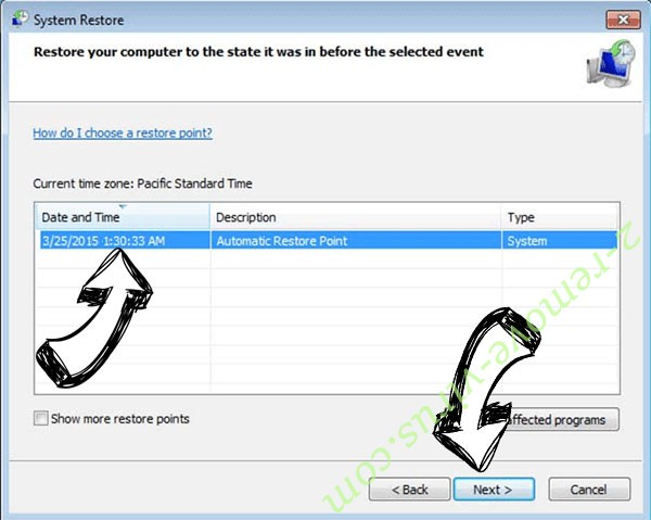 .BWNG file virus - restore point
