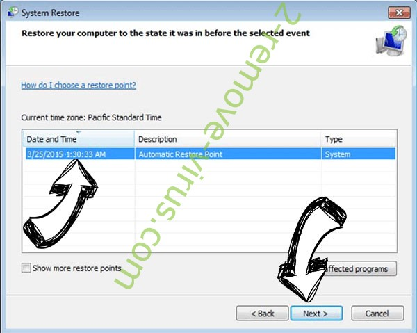 .Queclink file ransomware - restore point