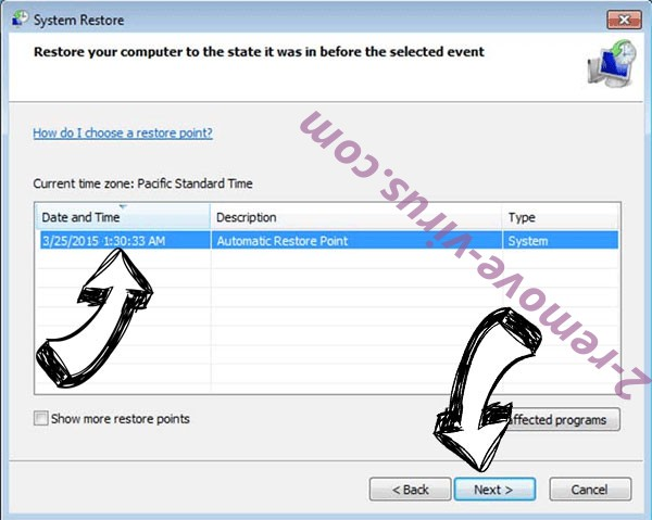 FileIce File Virus - restore point