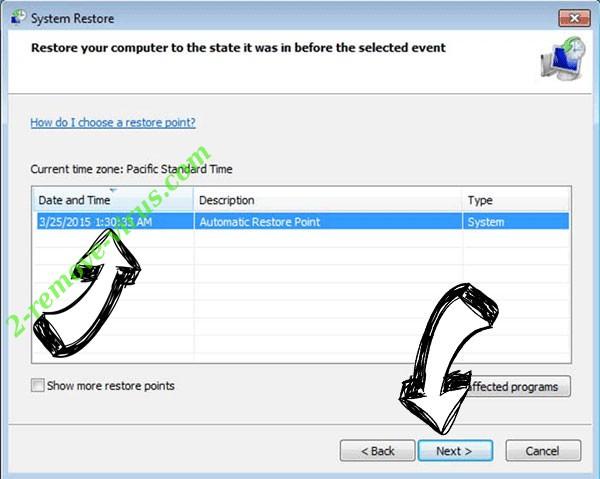 Cccmn Ransomware - restore point