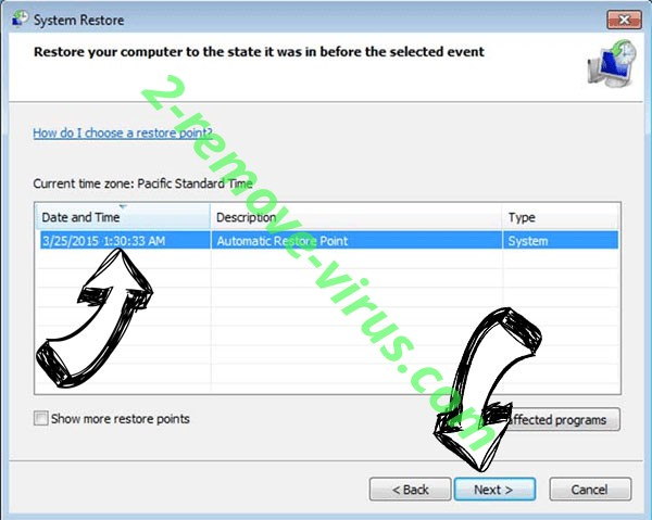 pulsar1 File Virus - restore point