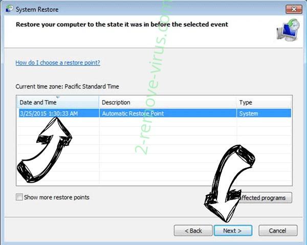 POLSAT Ransomware - restore point