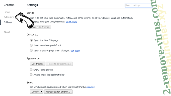 GetRadioSearch Chrome settings