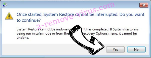 Boop file virus removal - restore message