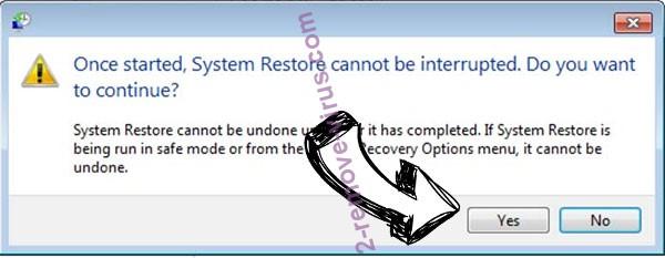 yUixN Ransomware removal - restore message