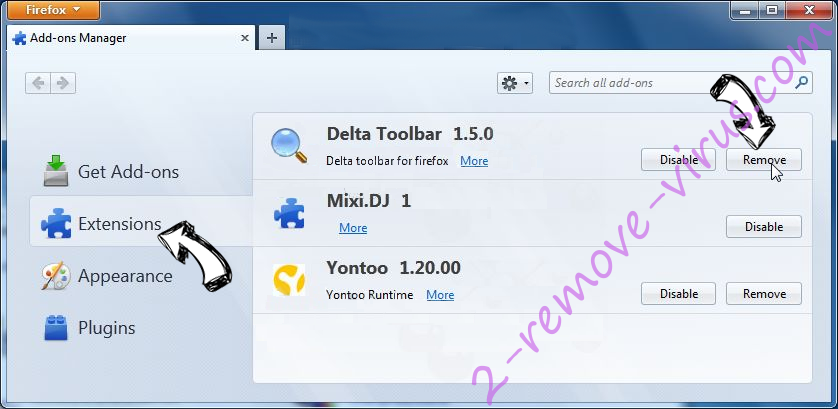 Unhadrenronre.pro Firefox extensions
