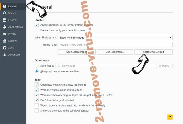 Unhadrenronre.pro Firefox reset confirm