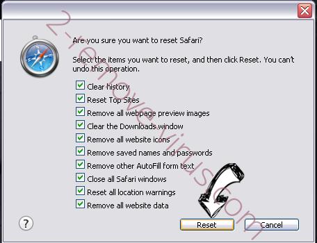 fastandprettysearch.com Safari reset