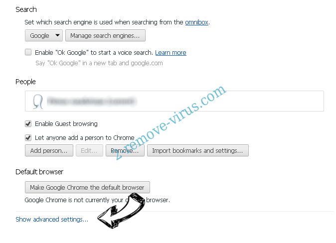 4KSportSearch Chrome settings more