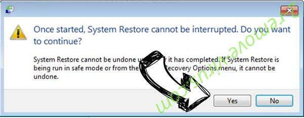 .Cales extension virus removal - restore message