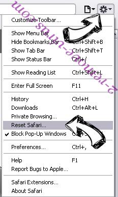 Safari-protection.com Safari reset menu